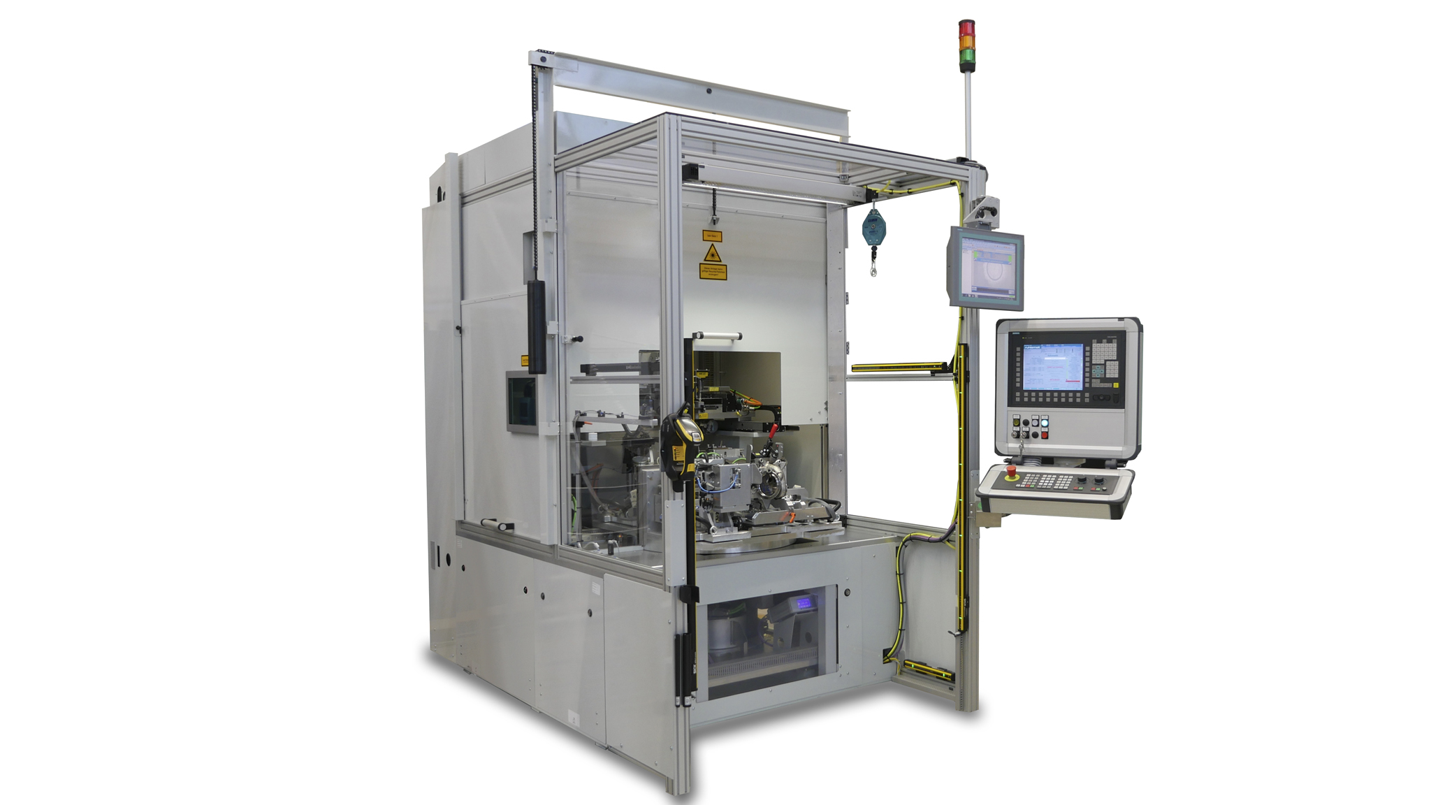 Stations for laser welding of plastic parts