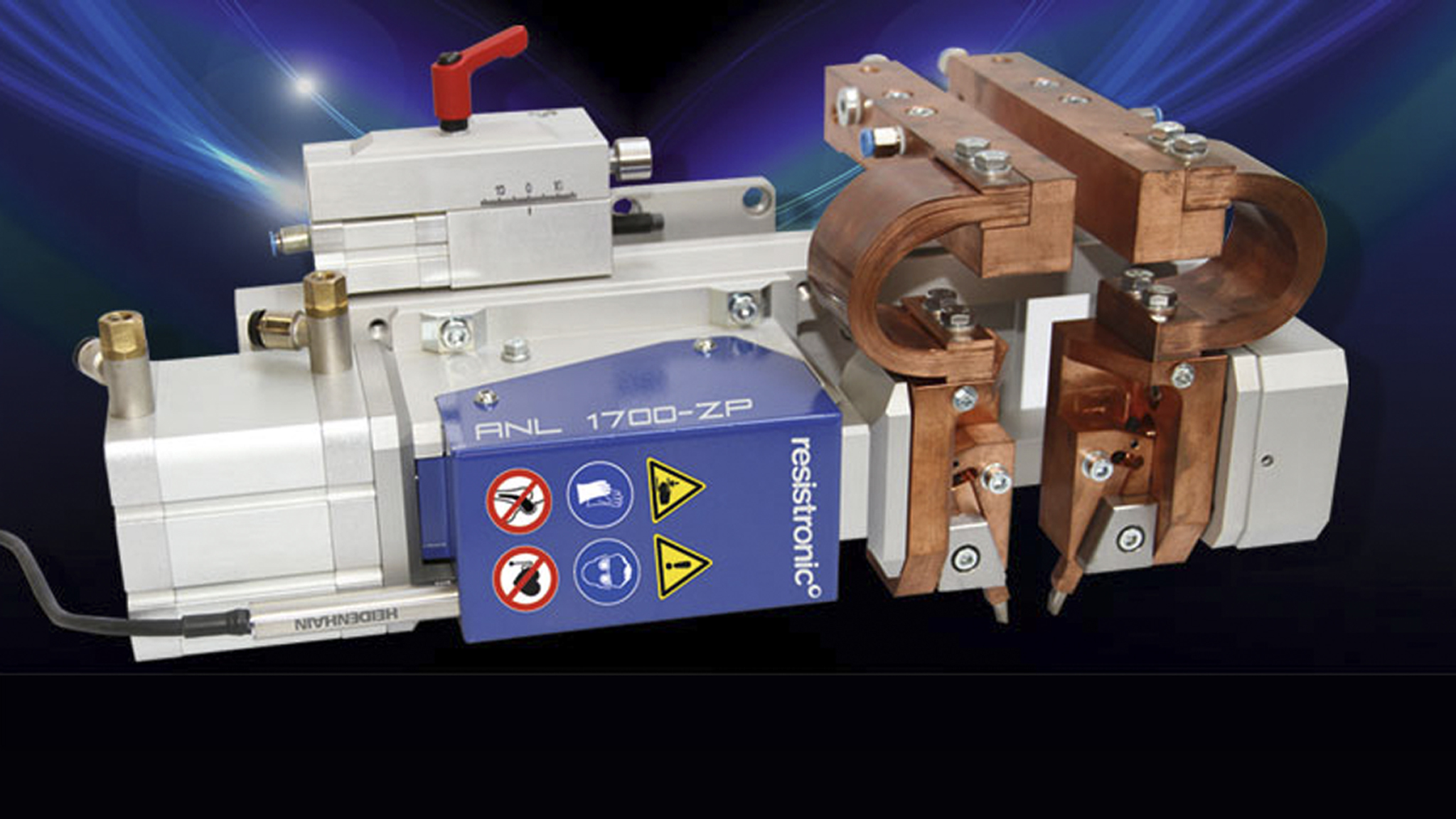 Pneumatic welding heads for micro-resistance welding