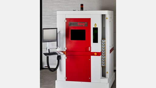 Fully automatic type plate laser marking machine