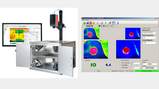 Test stations for heat flow thermography