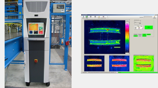 Thermography-based test system for press hardening
